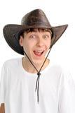 Adolescente en el sombrero de stetson Foto de archivo libre de regalías