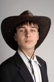 Adolescente en el sombrero de stetson Imagen de archivo libre de regalías