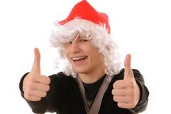Adolescente en el sombrero santa Fotos de archivo libres de regalías