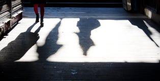 Adolescente en el subterráneo Foto de archivo