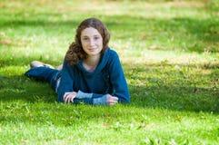 Adolescente en el verano Fotografía de archivo
