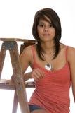 Adolescente en escala Foto de archivo