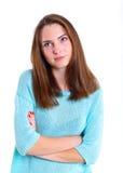 Adolescente en estudio Imagen de archivo