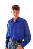 Adolescente en fondo ligero Imagen de archivo libre de regalías