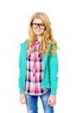 Adolescente en gafas Imagen de archivo libre de regalías