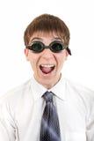 Adolescente en gafas de la natación Imagen de archivo libre de regalías