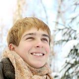 Adolescente en invierno Fotos de archivo libres de regalías