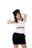 Adolescente en la blusa blanca Fotografía de archivo libre de regalías