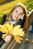 Adolescente en la caída Imágenes de archivo libres de regalías