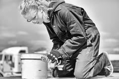 Adolescente en la construcción Fotografía de archivo
