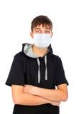 Adolescente en la máscara Fotografía de archivo libre de regalías