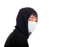 Adolescente en la máscara Fotografía de archivo