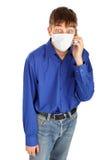 Adolescente en la máscara Foto de archivo libre de regalías