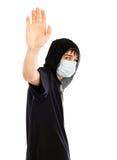Adolescente en la máscara Imágenes de archivo libres de regalías