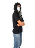 Adolescente en la máscara Imagenes de archivo