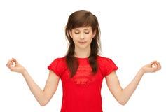 Adolescente en la meditación Imagen de archivo