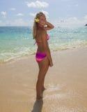 Adolescente en la playa Fotografía de archivo
