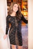 Adolescente en Lacy Dress Imagen de archivo