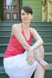 Adolescente en las escaleras Imagen de archivo libre de regalías