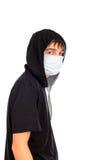 Adolescente en máscara Foto de archivo libre de regalías