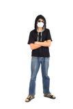 Adolescente en máscara Fotografía de archivo
