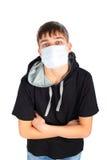 Adolescente en máscara Imágenes de archivo libres de regalías