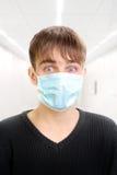Adolescente en máscara Fotografía de archivo libre de regalías
