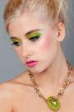 Adolescente en maquillaje brillante Fotografía de archivo libre de regalías