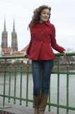 Adolescente en Polonia Imágenes de archivo libres de regalías