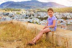 Adolescente en Rethymno, Creta Imagen de archivo