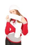 Adolescente en ropa del invierno Fotografía de archivo libre de regalías