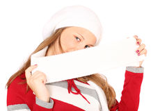 Adolescente en ropa del invierno Fotos de archivo libres de regalías