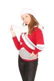 Adolescente en ropa del invierno Fotos de archivo