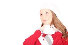 Adolescente en ropa del invierno Imagenes de archivo