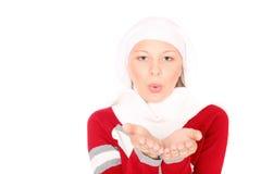 Adolescente en ropa del invierno Imágenes de archivo libres de regalías