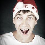 Adolescente en Santa Hat Foto de archivo libre de regalías