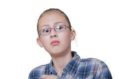 Adolescente en susto Imagen de archivo
