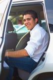 Adolescente en un coche Imagen de archivo libre de regalías