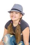 Adolescente en un sombrero, primer Foto de archivo
