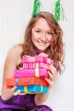 Adolescente en un vestido de fiesta Imagen de archivo libre de regalías