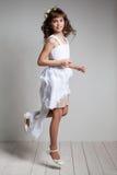 Adolescente en un vestido elegante Imagenes de archivo