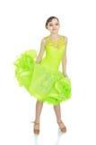 Adolescente en un vestido hermoso de la danza Fotos de archivo libres de regalías