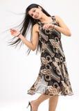 adolescente en una actitud del baile Imagen de archivo