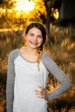 Adolescente en una camisa del béisbol Foto de archivo libre de regalías