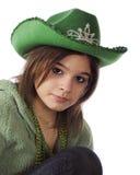 Adolescente en verde Fotos de archivo