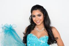 Adolescente en vestido de la danza Imágenes de archivo libres de regalías