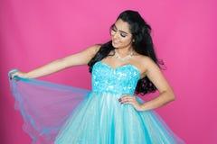 Adolescente en vestido de la danza Fotos de archivo libres de regalías