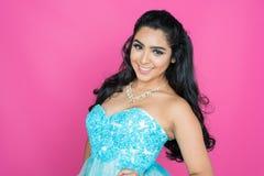 Adolescente en vestido de la danza Foto de archivo libre de regalías