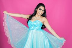 Adolescente en vestido de la danza Imagen de archivo