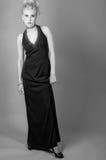 Adolescente en vestido de lujo Fotos de archivo